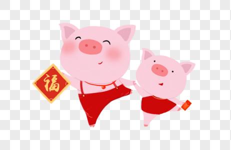 手绘卡通猪猪元素图片