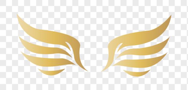 金色翅膀装饰图片