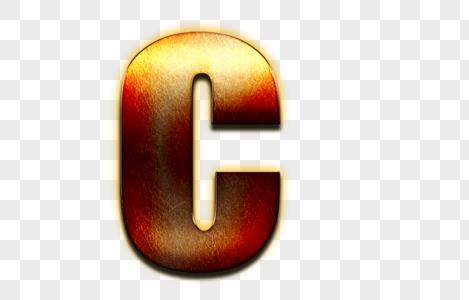 金属立体英文字母c图片