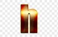金属立体英文字母h图片