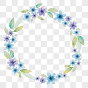 淡雅清新水彩花环图片