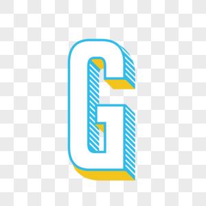 立体英文字母G图片