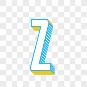 立体英文字母Z图片