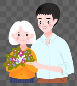 奶奶和孙子图片