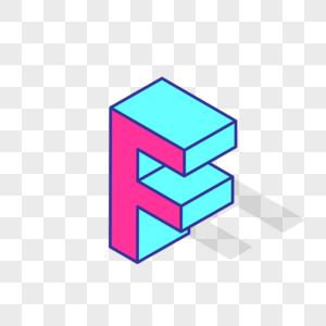立体英文字母F图片
