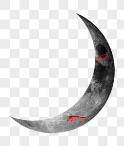万圣节黑色月亮图片