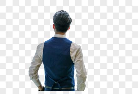 商务男士背影图片