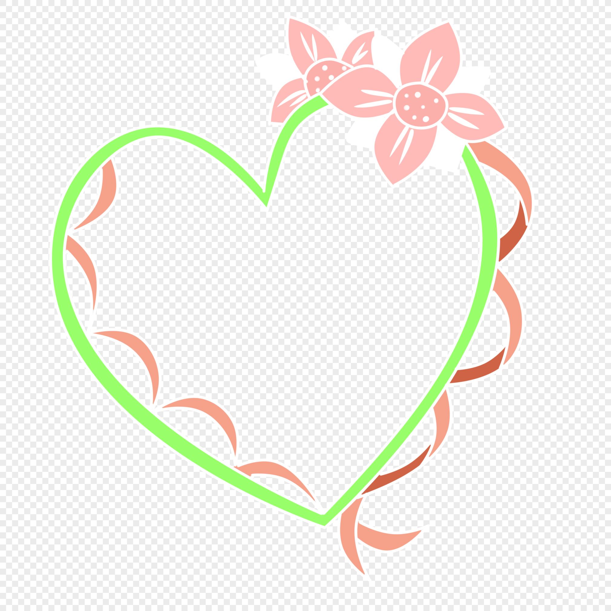 爱心边框元素素材png格式_设计素材免费下载_vrf高清