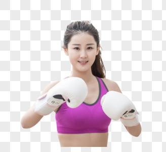 户外运动健身女性拳击图片