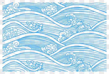 水纹边框图片