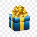 蓝色生日礼盒图片