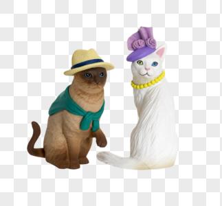 模型的猫图片