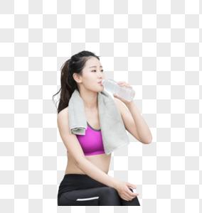 户外运动健身女性人像休息图片