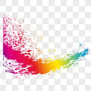 彩色墨迹图片