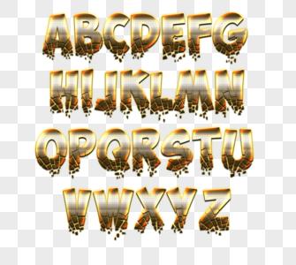 26个英文大写字母钢铁图片