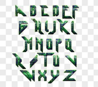 26个英文大写字母科技图片