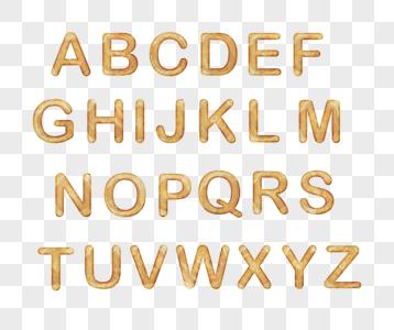 26个英文大写字母木头图片