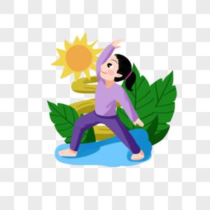 练瑜伽的女孩图片