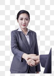 职业女性与人握手合作图片