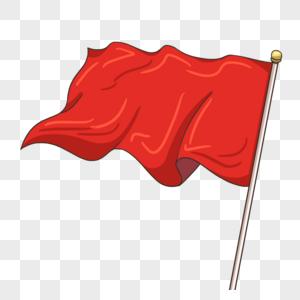 红色旗子图片