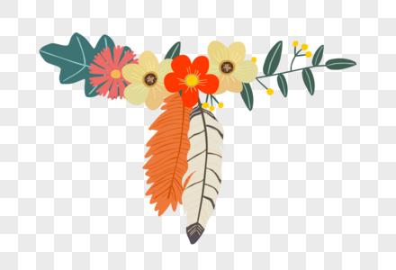 唯美淡雅花卉装饰矢量图素材图片