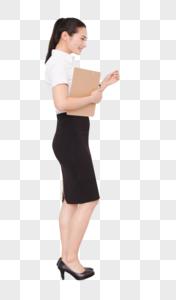 职业美丽女性求职面试敲门图片