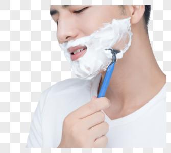男士剃须图片