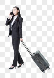 商务女性出游电话交谈图片