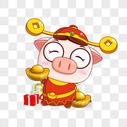 猪小福送元宝图片