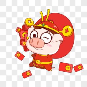 猪小福发红包图片
