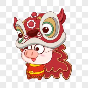 猪小福舞狮图片