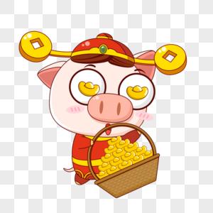 猪小福送钱图片