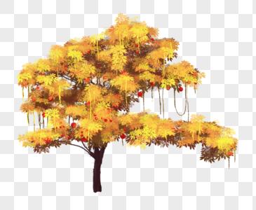 金黄色的树图片