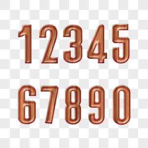 木纹立体数字字体设计图片