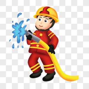 高大消防员形象图片