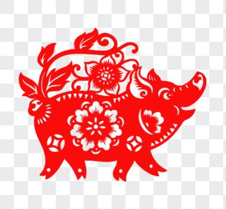 中国风猪年剪纸图片