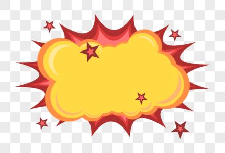 矢量爆炸云对话框图片