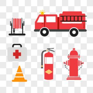 简约消防元素图片