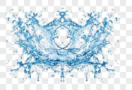 底纹边框水滴护肤清新水花喷溅元素图片