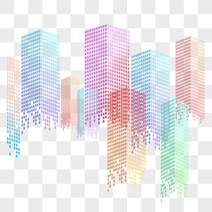 高楼建筑设计元素图片