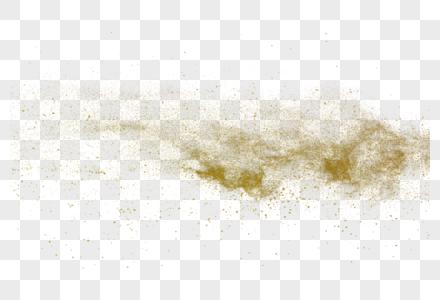 金黄色的粉尘爆炸元素图片