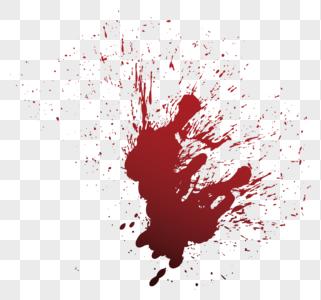 红色血迹图片