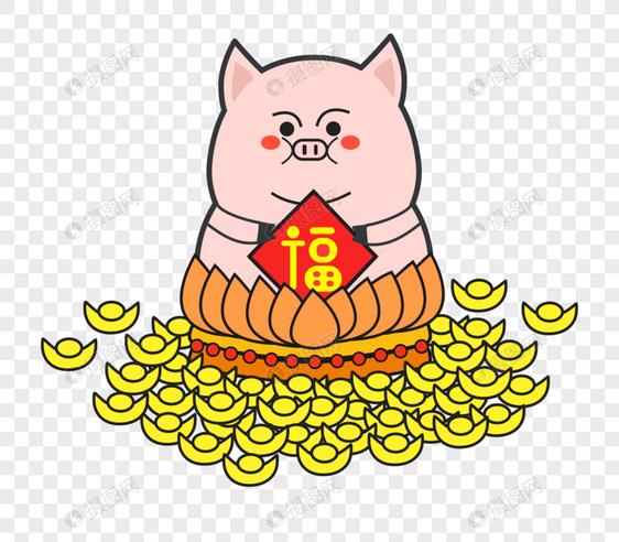 新年招财猪素材图片