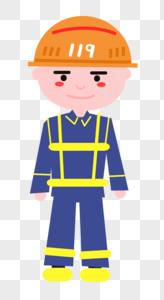 卡通消防员形象图片