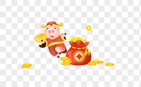 送金钱的猪图片