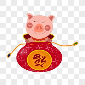 福袋里的猪图片