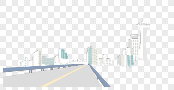 港珠澳大桥桥上视角免抠素材图片