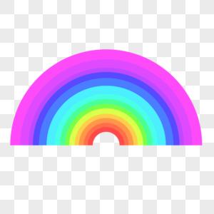 卡通彩虹矢量素材图片