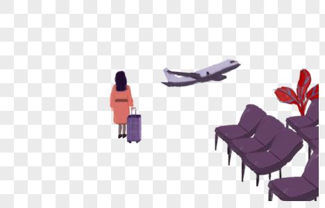 春运等候飞机图片