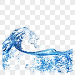 透明水滴和水元素图片